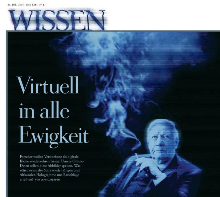 Jens Lubbadeh: Virtuell in alle Ewigkeit (DIE ZEIT)